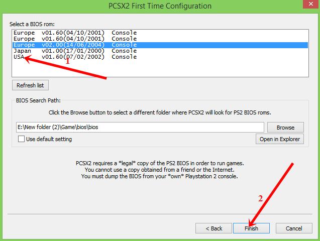 Hướng dẫn cấu hình phần mềm PCSX2