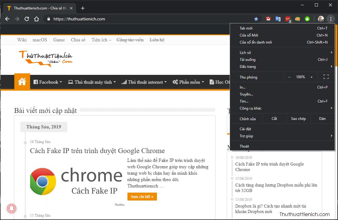 Giao diện Google Chrome