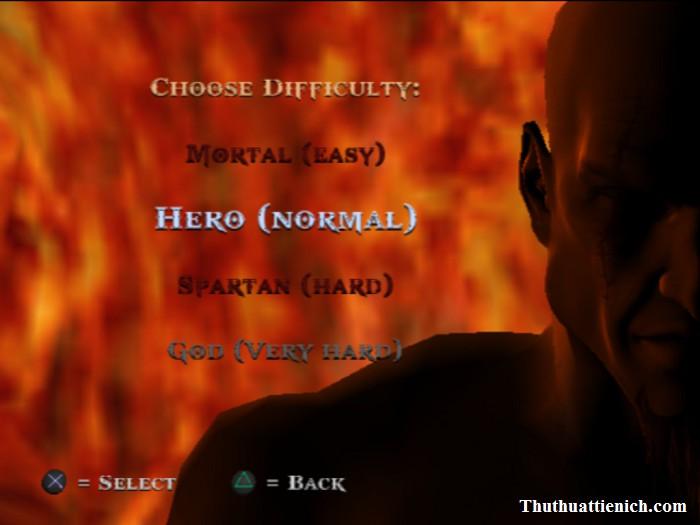Các chế độ chơi trong game God Of War 1