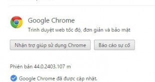 Google Chrome 44 Stable Full cài đặt Offline