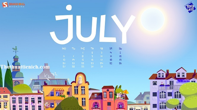 Hình nền máy tính chủ đề tháng 07-2015 có lịch/không lịch Full HD/2K