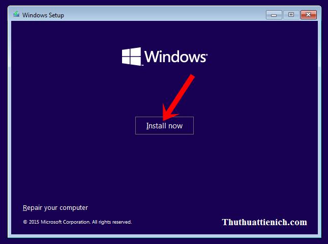 Hướng dẫn cài đặt Windows 10 chi tiết bằng hình ảnh