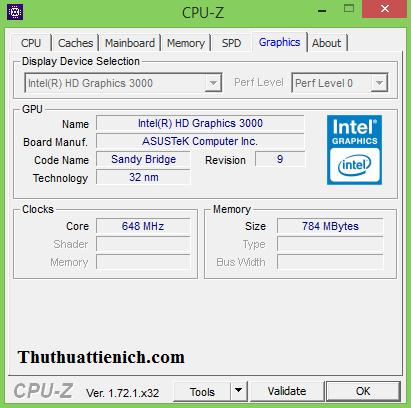 Phần mềm miễn phí xem thông tin Mainboard, CPU, Graphic