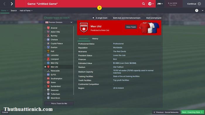 Soccer manager game online