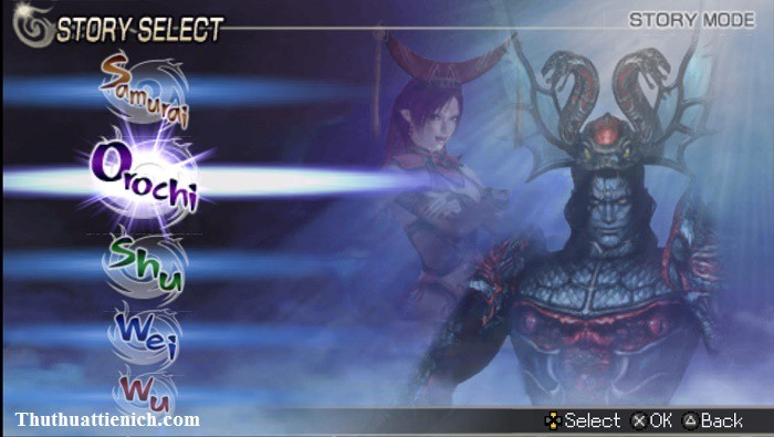 Game Warriors Orochi 2 giả lập PSP