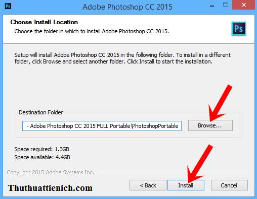 H\u01b0\u1edbng d\u1eabn c\u00e0i \u0111\u1eb7t Adobe Photoshop CC 2015 Portable b\u1eb1ng