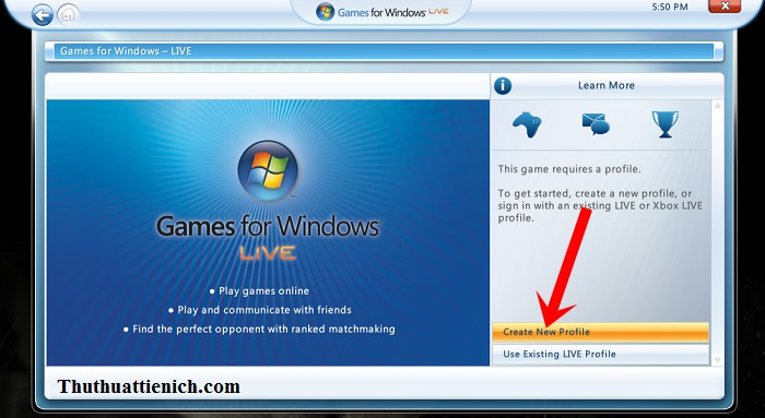 Hu?ng d?n t?o tai kho?n Game For Windows Live choi game Offline