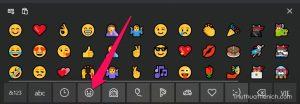 Biểu tượng cảm xúc trên Touch Keyboard