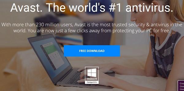 Phần mềm diệt virus Avast tương thích Windows 10