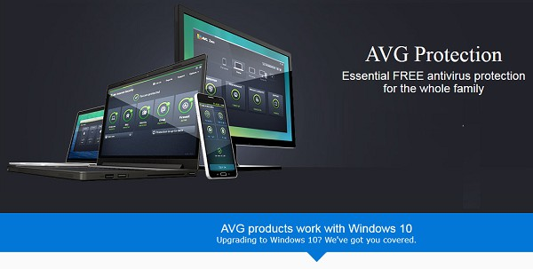 Phần mềm diệt virus AVG tương thích Windows 10