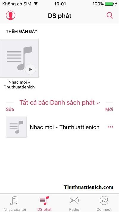 Nhạc đã được thêm vào iPhone/iPad