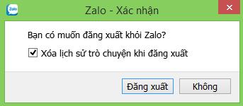 Cách đăng xuất, thoát tài khoản Zalo trên máy tính