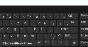 Cách mở bàn phím ảo (On-Screen Keyboard) trên Windows 10