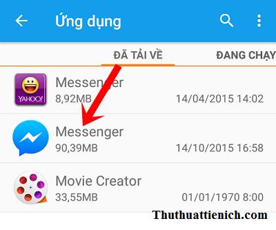 Chọn ứng dụng Messenger