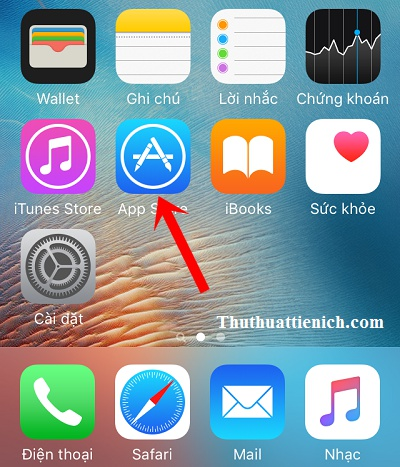 Mở App Store