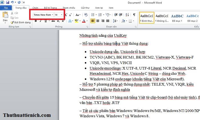Font .VnTime đã được chuyển sang Time New Roman