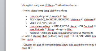 Hướng dẫn cách chuyển văn bản có dấu sang không dấu với Unikey