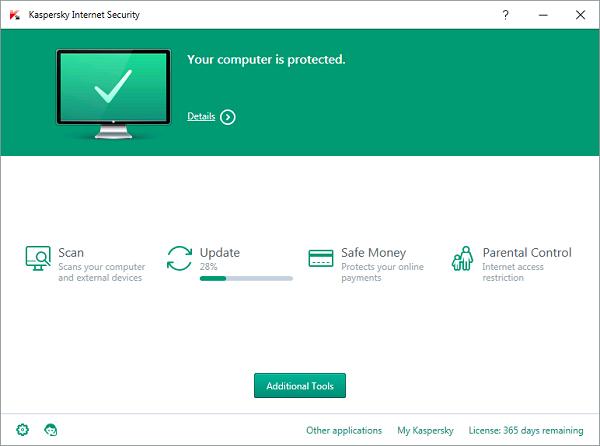Phần mềm diệt virus Kaspersky tương thích Windows 10