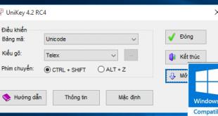 Phần mềm gõ tiếng Việt Unikey cho Windows 10