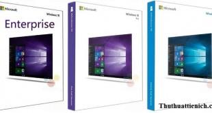 Sự khác nhau giữa các phiên bản Windows 10