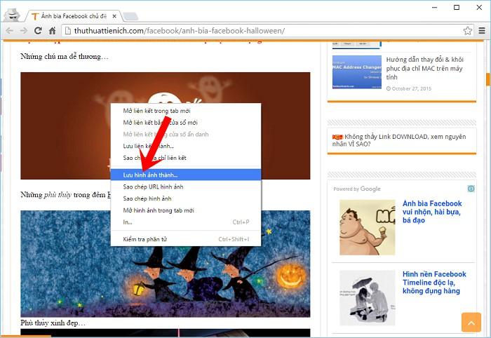 Cách tải ảnh trên mạng về máy tính Chrome, Cốc Cốc, Firefox