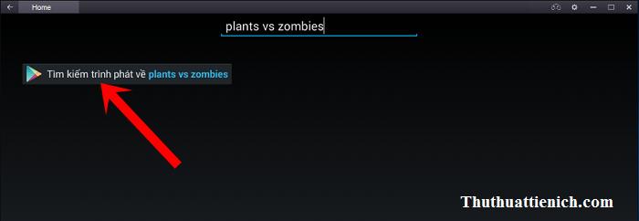 Tìm kiếm với từ khóa plants vs zombies