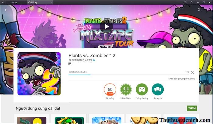 Bắt đầu tải về & cài đặt game Plants vs Zombies 2