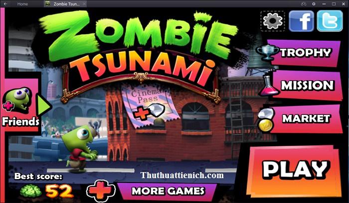 Giao diện menu game Plants vs Zombies 2