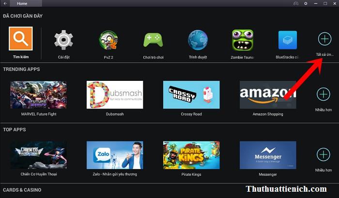 Hoặc bạn cũng tìm thấy game Zombie Tsunami vừa cài đặt trong kho ứng dụng