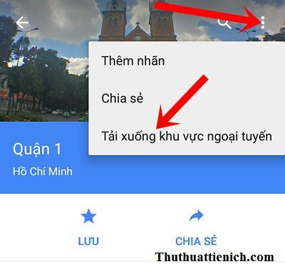 Hướng dẫn tạo bản đồ ngoại tuyến với Google maps