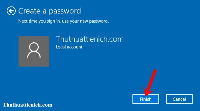 Hướng dẫn tạo mật khẩu đăng nhập cho người dùng (User) trên Windows 10