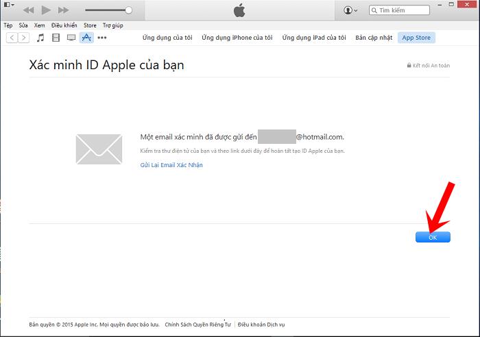 Thông báo yêu cầu xác minh ID Apple