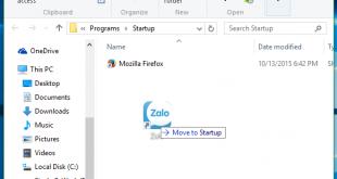 Tạo ứng dụng khởi động cùng Windows