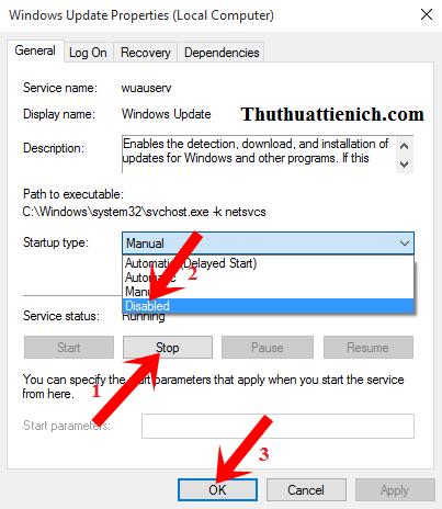 Hướng dẫn cách tắt Windows Update trên Windows 10