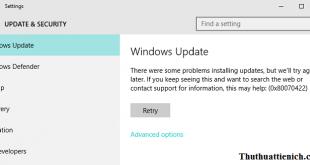 Hướng dẫn cách tắt tính năng Windows Update trên Windows 10