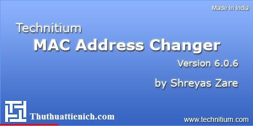 Technitium MAC Address Changer - Phần mềm đổi địa chỉ MAC chuyên dụng