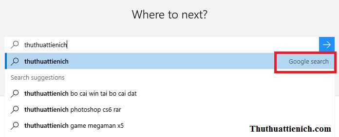 Cách chọn Google là công cụ tìm kiếm mặc định trên Microsoft Edge