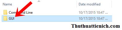 Mở thư mục GUI