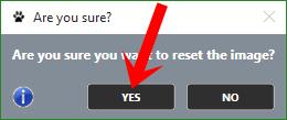 Nhấn nút Yes để xác nhận khôi phục
