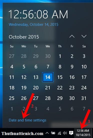 hướng dẫn cách thay đổi ngày, giờ, múi giờ trên Windows 10