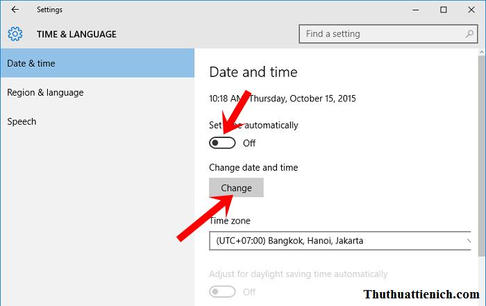 Cách cài đặt ngày, giờ trên Windows 10 thủ công (bằng tay)