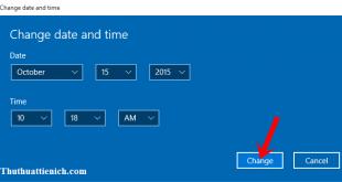 Cách cài đặt ngày, giờ trên Windows 10