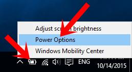 Hướng dẫn cách tùy biến % thông báo pin yếu trên Laptop