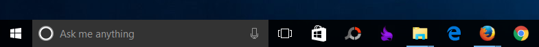 Thanh Taskbar với khung tìm kiếm