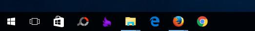 Thanh Taskbar không có khung tìm kiếm