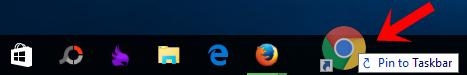 Ghim ứng dụng vào thanh Taskbar