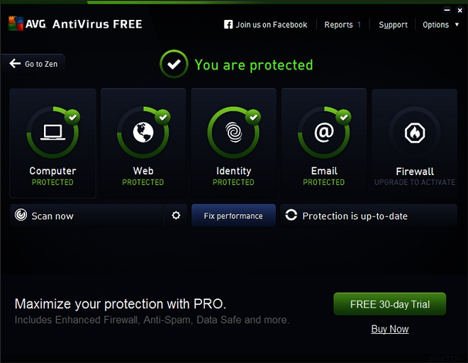 AVG Free AntiVirus - Phần mềm diệt virus tốt nhất