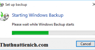 Hướng dẫn cách Backup (Sao lưu) & Restore (khôi phục) Windows 10