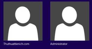 Hiện/ẩn tài khoản Administrator