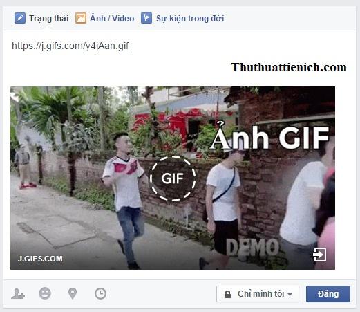 Đăng ảnh GIF lên Facebook